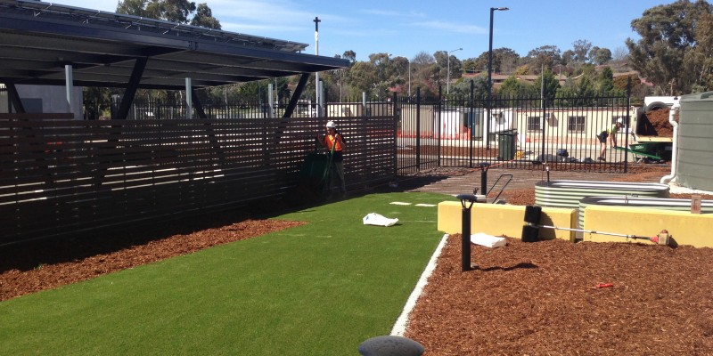 Charnwood Joint Emergency Services Station - Mulching