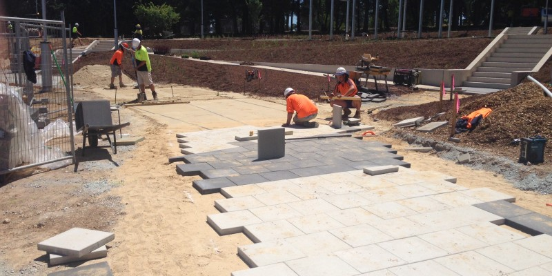 Commercial Paving at Woden Green